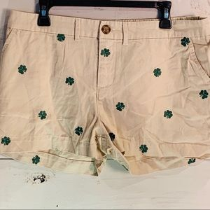 Chubbies Womens Size 14 Khaki Embroidered Shorts